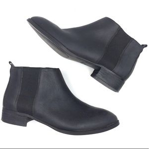 Nine West pointed toe black leather Chelsea boots